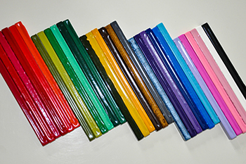 Colored wax sticks